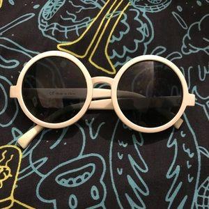 Twenty One Pilots White Round Lens Sunglasses